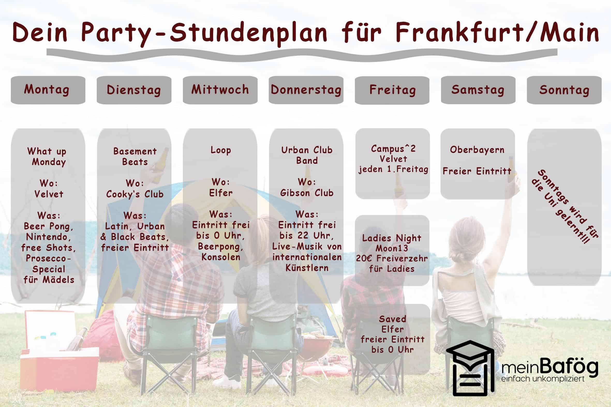 der frankfurter party stundenplan meinbaf g. Black Bedroom Furniture Sets. Home Design Ideas