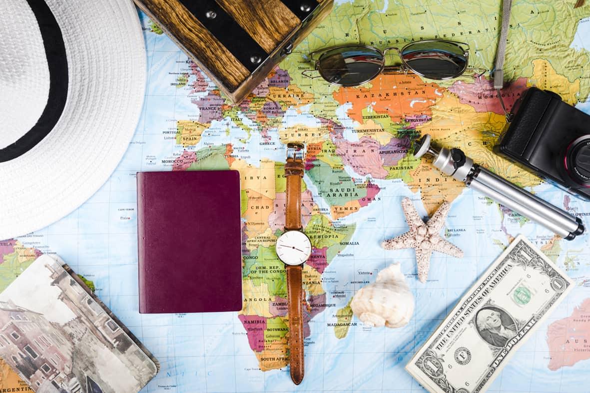 Weltkarte zum AuslandsBAföG