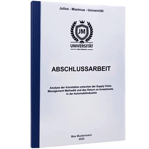 Abschlussarbeit mit Klebebindung gedruckt von BachelorPrint