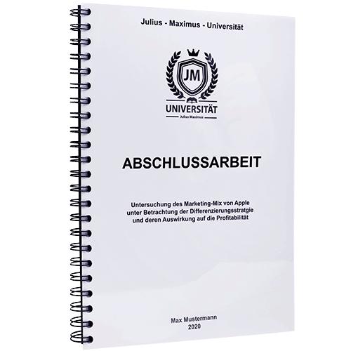 Abschlussarbeit gedruckt von BachelorPrint mit Spiralbindung aus Metall